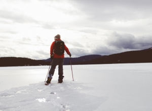 Snowshoe Cure for 'Post Holing'