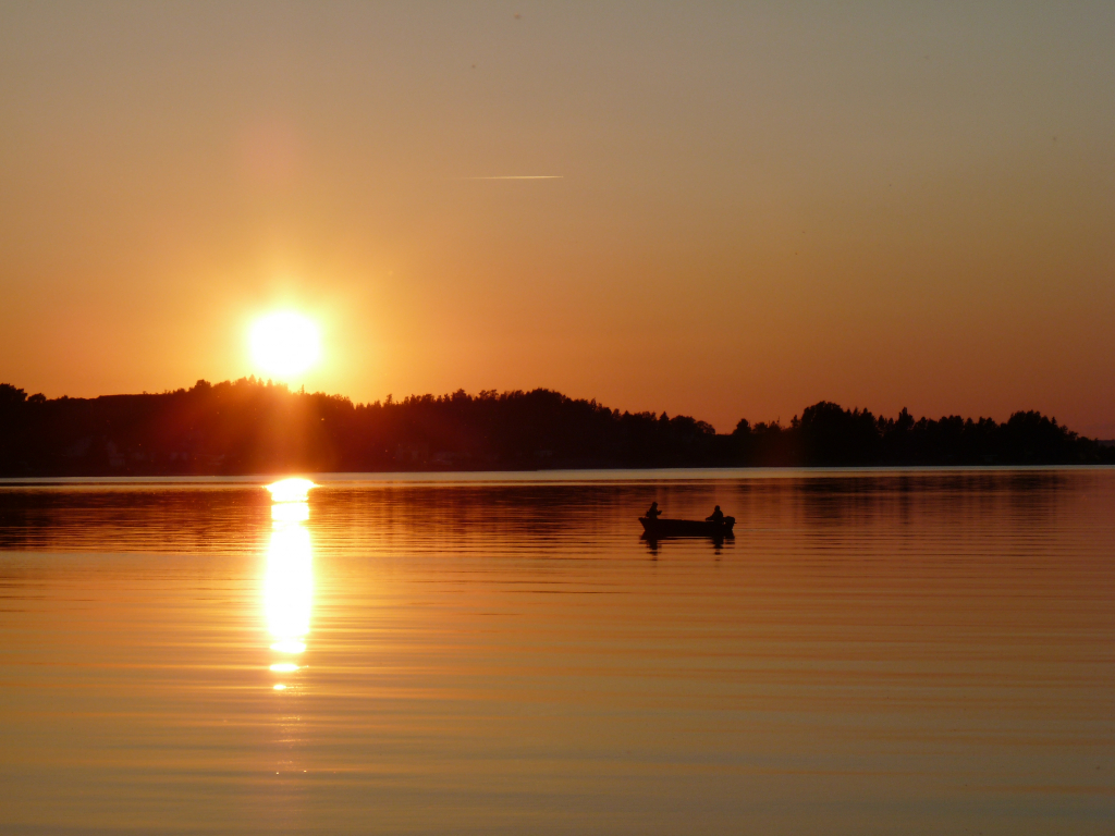 Sunset on the Lake Saint-Jean, in the province of Quebec