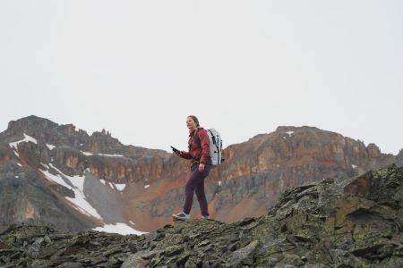 Hiking with a satellite communication device