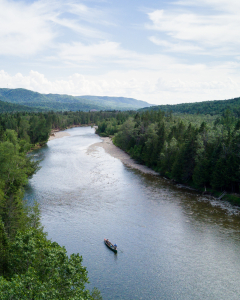 Where can you fly fish for Atlantic salmon?