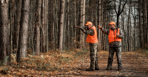 Men hunting during the fall