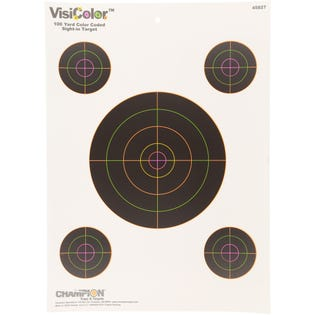 VisiColor Sight-In With 4 Xtra Bulls High-Visibility Paper Targets 10 Pack